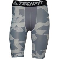 adidas Mens Techfit Chill Print Tight Shorts Black/Grey