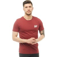JACK AND JONES Mens Anything Chest T-Shirt Cordovan