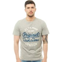 JACK AND JONES Mens Surf T-Shirt Light Grey Melange