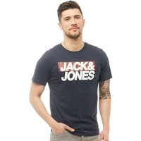 JACK AND JONES Mens Troll T-Shirt Total Eclipse