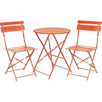 House by John Lewis Brighton Garden Bistro Table and Chairs Set, Flame
