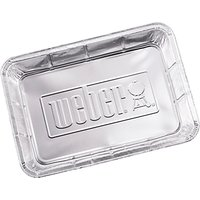 Weber Small Aluminium BBQ Drip Trays, Pack of 10