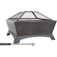 La Hacienda Harleston Firepit With Cooking Grill