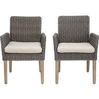 John Lewis & Partners Eden Outdoor Dining Chairs, FSC-Certified (Eucalyptus), Salima Wash, Set of 2