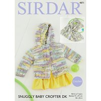 Sirdar Snuggly Baby Crofter DK Cardigan And Blanket Knitting Pattern, 4871