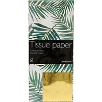 John Lewis & Partners Tropical Green Leaf Tissue Paper, 3 Sheets