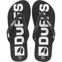 DuFFS Mens Flip Flops Black/White