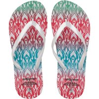 Board Angels Womens Printed Flip Flops White/Multi