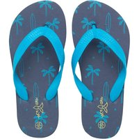 Mad Wax Junior Boys Printed Flip Flops Navy/Royal