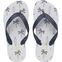 Mad Wax Junior Boys Printed Flip Flops White/Navy