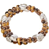 Simon Carter Skull tiger eye bracelet, Brown