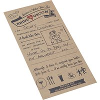 Ginger Ray Wedding Advice Cards, Pack of 10