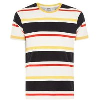 Mens Yellow Striped T-Shirt, Yellow