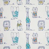 little home at John Lewis Party Animals Rainforest Furnishing Fabric, Multi