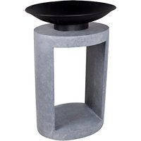 Ivyline Oval Firebowl and Console Firepit, Grey/Black
