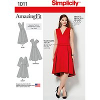 Simplicity Women's AmazingFit Dress Sewing Pattern, 1011, AA