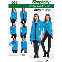 Simplicity Wrap, Twist and Tip Knit Cardigan Sewing Pattern, 1065, A