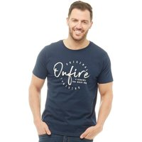 Onfire Mens T-Shirt With Chest Print Navy