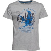 Onfire Mens T-Shirt With Chest Print Grey Marl