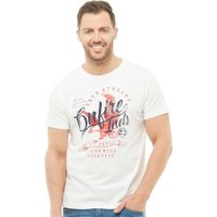 Onfire Mens T-Shirt With Chest Print White