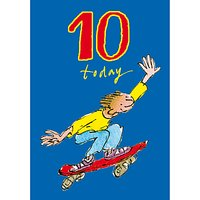 Woodmansterne Double Skater 10th Birthday Card