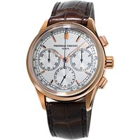 Frdrique Constant FC-760V4H4 Men's Flyback Chronograph Automatic Alligator Leather Strap Watch, Brow