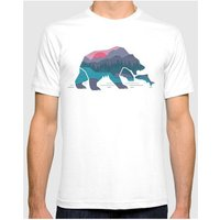 Time 40  T-Shirt BEAR COUNTRY2 White Man Spring/Summer Collection  men's T shirt in White