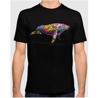 Time 40  T-Shirt WHALE2 Black Man Spring/Summer Collection  men's T shirt in Black