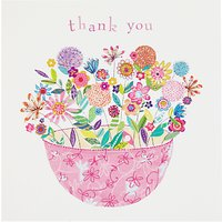 Woodmansterne Pink Flower Thank You Card