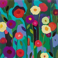Woodmansterne Purple And Red Flowers Greeting Card