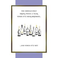 Paper House Drink On Two Occasions Birthday Card