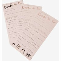 Womens Ginger Ray Advice for the bride card (10PK)- Pink, Pink