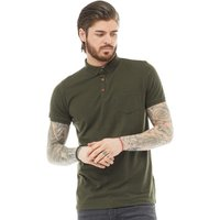 Brave Soul Mens Julius Polo Khaki
