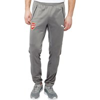 Puma Mens AFC Arsenal DryCELL Tapered Poly Training Pants Steel Grey