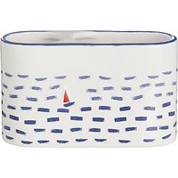 John Lewis & Partners Coastal Lost at Sea Basin Toothbrush Caddy, Multi
