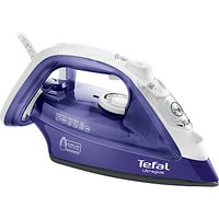 Tefal Ultraglide FV4042 Steam Iron, Purple/White