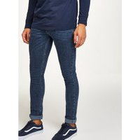 Mens Antioch Navy Acid Wash Spray On Jeans*, Navy