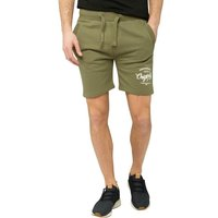 Crosshatch Mens Lunton Jersey Shorts Dusty Olive