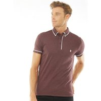 French Connection Mens Piping Polo Chateaux Melange