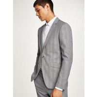 Mens Multi Black And White With Lilac Check Skinny Suit Jacket, Multi