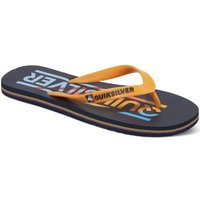 Quiksilver  Molokai Wordmark - Chanclas  men's Flip flops / Sandals (Shoes) in Orange
