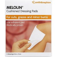 Smith & Nephew Melolin Cushioned Dressing Pads - 5 dressings (10 x10)