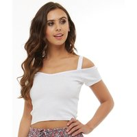 Board Angels Womens Cold Shoulder Top White