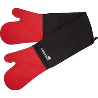 Masterclass Silicon Double Oven Gloves, Red / Black