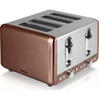 SWAN ST14050COPN 4-Slice Toaster - Copper