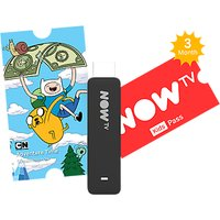 NOW TV Smart Stick with Voice Search & 3 Month Kids Pass