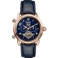 Ingersoll Men's The New England Automatic Chronograph Date Heartbeat Leather Strap Watch