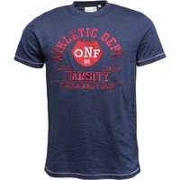 Onfire Mens T-Shirt With Chest Print Navy Twist