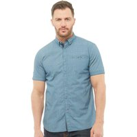 Onfire Mens Geo Printed Short Sleeve Shirt Blue