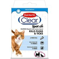 Bob Martin Clear Spot-on Solution 50mg For Cats - 3 Pipettes
